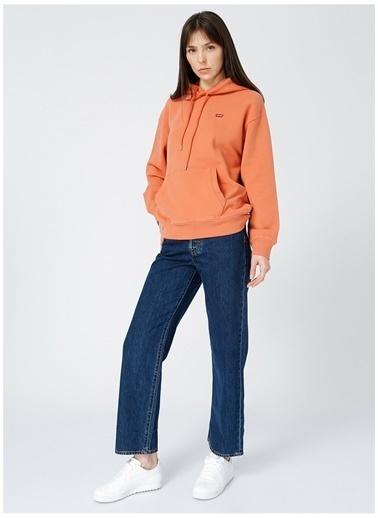 Levi's® Levis Kadın Kapüşonlu Kırmızı Sweatshirt Kırmızı